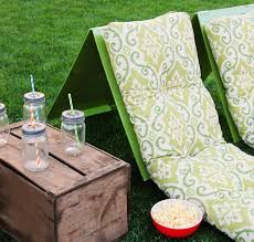 seat cushions for outdoor metal chairs. outdoor movie theater seats, made out of chair cushions and plywood (simple tutorial seat for metal chairs