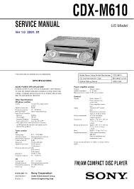 service manual for sony cdx m610 cdx m610 schematics,datasheets Sony Cdx 610 Wiring Diagram search for other files in same category(car audio) or same brand (sony) sony cdx-m610 wiring diagram