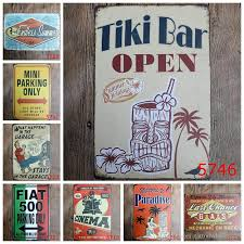 2018 tiki bar open welcome to paradise retro coffee shop bar restaurant wall art decoration bar metal paintings 20x30cm tin sign from tattoowholesales  on tiki bar metal wall art with 2018 tiki bar open welcome to paradise retro coffee shop bar