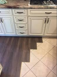 floating wood floor over tile