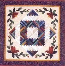 412 best Log Cabin Quilts images on Pinterest | Log cabin quilts ... & Log Cabin Spring from Quakertown Quilts Adamdwight.com