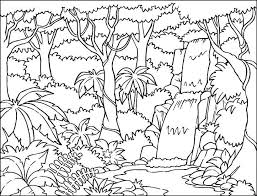 Online Coloring Pages Trees Coloring Nature Waterfall Trees Trees
