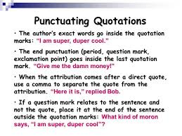 Punctuation Quotes Using Quotations Ppt Video Online Download