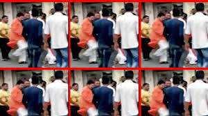 Ahmedabad Mla Kicks Woman After She Falls On The Ground Video Goes Viral