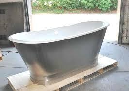 porcelain steel tub cast iron double ended stainless steel slipper pedestal tub throughout enameled bathtub plan