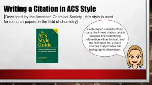 Njco 2019 Part 2 Writing Citations In Acs Style