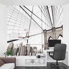 office wall murals. Twin Towers Wall Mural Brooklyn Bridge Office Murals N