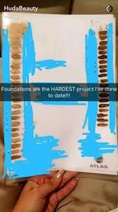 Huda Beauty Faux Filter Foundation Chart Comparison