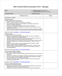 Simple Employee Review Template For Employee Review Printable Schedule Template