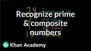 Recognizing Prime And Composite Numbers Video Khan Academy