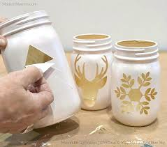 Ideas For Decorating Mason Jars For Christmas Christmas Painted Mason Jars Unique Decorating Mason Jars Ideas On 4
