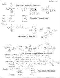 Lab Notebook Example Chem2oa36 1999 2000 Laboratory Notebook