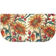 cook n comfort multi daisies 20 in x 39 in slice kitchen mat