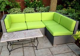 Vivid Green Outdoor Sectional Cushions contemporary-patio