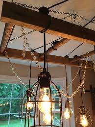 saved by scottie rustic chandelier adding crystals 2