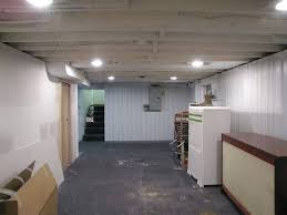 Basement Ceiling Painted White Modern Concept Unfinished Basement