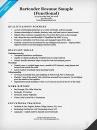 Examples Of Bartending Resumes 71 Images Bartender Resume