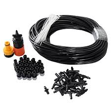 amazon thebluestone diy 82ft 25 nozzles misting system kit for outdoor swimming pool cooling garden greenhouse irrigation reptile mosquito prevent