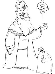 Kleurplaat Sinterklaas Met Staf Kleurplatennl