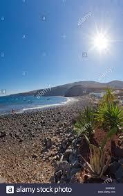 L'Espagne, Lanzarote, Playa Quemada, Rachel Payette Plage, Paysage ...