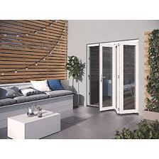 Image Clad Wood Jeldwen Bedgebury Slide Fold Patio Door Set White 1794 2094mm 3268x Jeldwen Jeldwen Bedgebury Slide Fold Patio Door Set White 1794 2094mm
