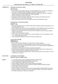 Certified Developer Resume Cloud Developer Resume Samples Velvet Jobs