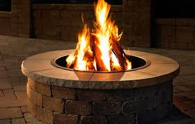 V Outdoor Fire Pit Kits Stone
