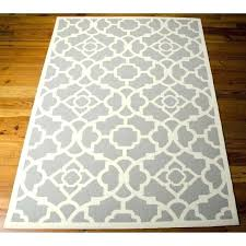 brown and white rugs teal