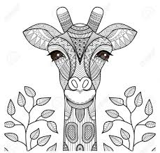 Small Picture Get This Giraffe Coloring Pages for Adults Zentangle Art 67318