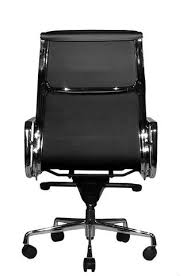 Image Singapore Wobi Office Black Eames Soft Pad Replica High Back Chair Back Wobi Office Clyde Ergonomic Highback Office Chair Black Leather From Wobi Office