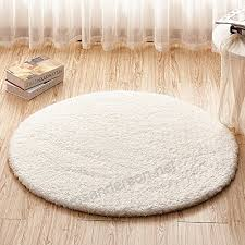 tidetex white round livingroom carpet bedroom rugs simple solid soft plush child play crawling large