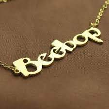 create your own name necklace gold the handmade