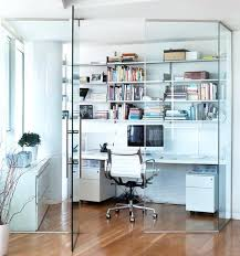 compact office design. Minimalist Home Office Design Ideas For A Trendy Working Space Compact Encased In Glass To Cut Out Noise Outside S