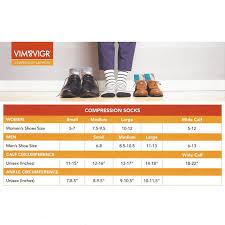 Womens Nylon Knee High Compression Socks Purple Grey Stripes