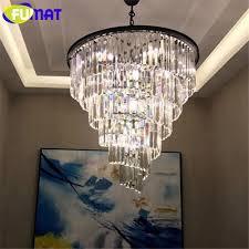 Großhandel Fumat Moderne Kristall Kronleuchter Wohnzimmer Lampe Pendelleuchte Lüster De Cristal Innenbeleuchtung Kristall Anhänger Für Kronleuchter