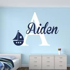 sailboat wall art nursery