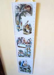 Wonderland Height Chart Alice In Wonderland Childrens Growth Chart Kids Height