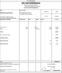 Basic Tax Invoice Template Download Excel Format Of Tax Invoice In GST GST Goods And 3