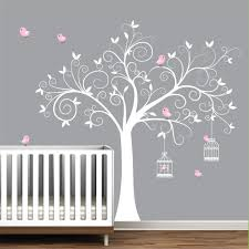 wall decal tree with bird cages children nursery wall decals stickers vinyl 99 00 via etsy  on baby room wall decor stickers with wall decal tree with birdcages birds baby wall decal nursery wall