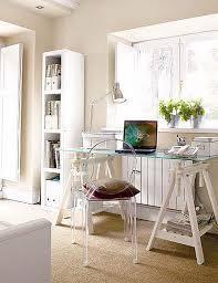me atrae la idea de poner un escritorio de este estilo placa de cristal con caballetes tenía pensado uno de la línea vika glasholm de ikea
