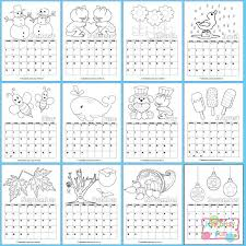 Small Picture Printable Calendar for Kids 2017 Itsy Bitsy Fun