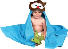 towel for kids. AM PM Kids Owl Hooded Towel For