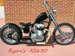 yamaha xs650 and g l chopper frame with hd type wheels springer