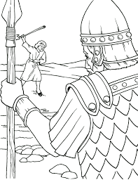 Charming David And Goliath Coloring Page Sunday School Pages Bible