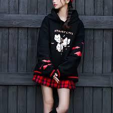 Autumn Hoodies Sweatshirt Women <b>Plus Size</b> Fashion Cat Letter ...