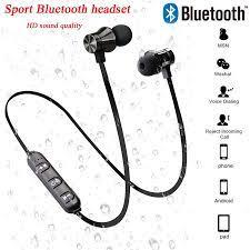 2021 yeni manyetik kablosuz bluetooth kulaklık spor kulaklık için mikrofon  ile Xiaomi Huawei Samsung pk hava 12 20 pro max|Bluetooth Earphones &  Headphones