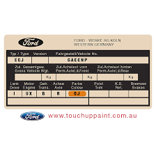 Paint Code Location 2005 Ford Falcon
