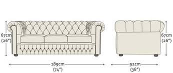 chesterfield sofa dimensions. Unique Dimensions Chesterfield 3 Seater With Sofa Dimensions I