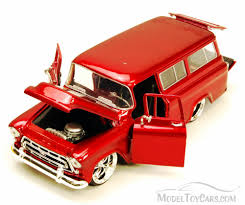 1957 Chevy Suburban SUV, Red - Jada Toys Bigtime Kustoms 50267 - 1 ...