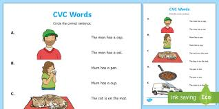 Our compilation of free online phonics games available on the internet. Cvc Words Reading Worksheet Teacher Made